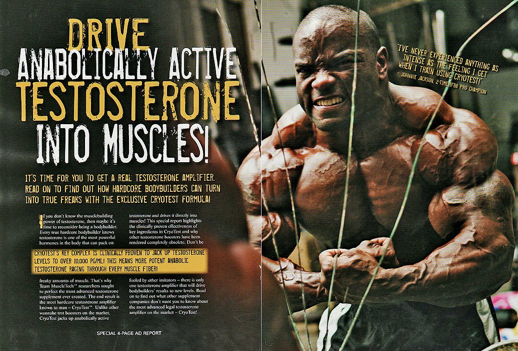 MUSCLETECH ad feat. Johnnie Jackson - photo by paulbuceta.com