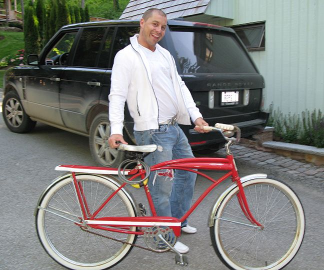 Paul and the red bike