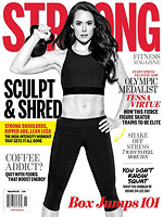 STRONG Fitness Magazine Cover - Tessa Virtue