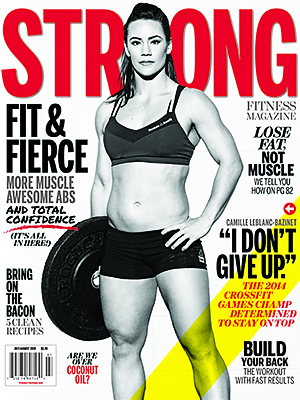 STRONG Fitness Magazine Cover - Camille Leblanc-Bazinet