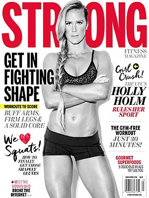 STRONG Fitness Magazine Cover - UFC's Holly Holm