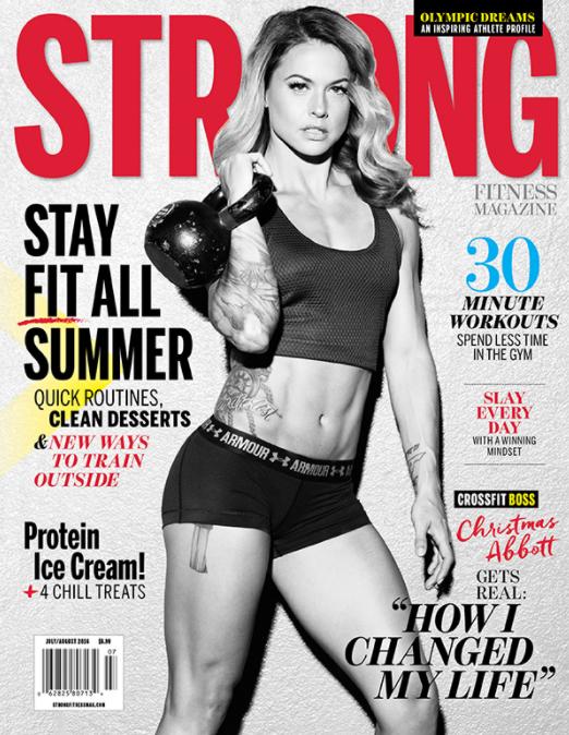 STRONG Fitness Magazine Cover - Christmas Abbott