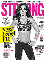 STRONG Fitness Magazine Cover - Vanessa Tib