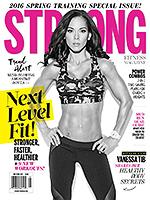 STRONG Fitness Magazine Cover - Vanessa Tib